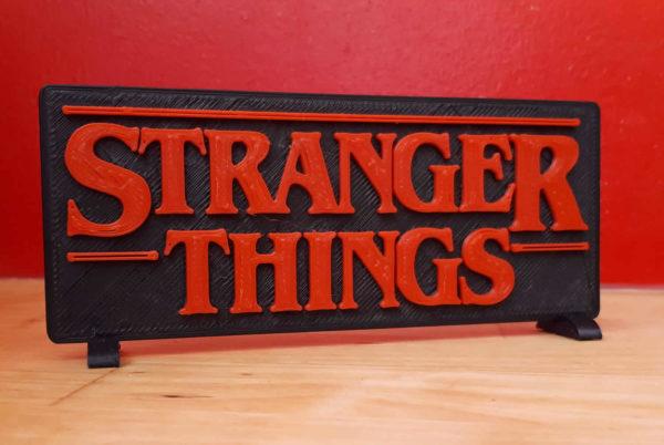 Logo Stranger Things 3D