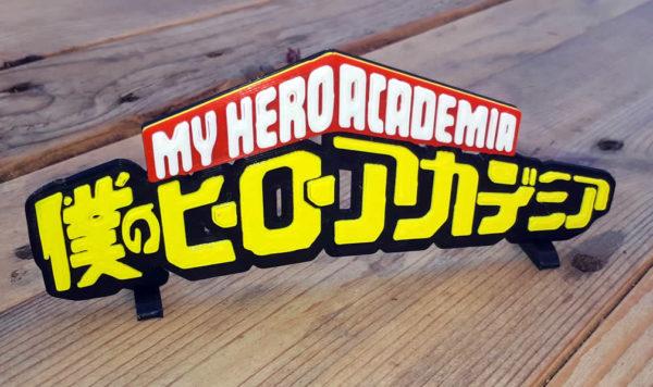 Logo 3D de My Hero Academia