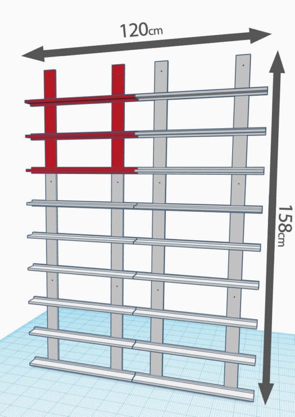 3 lignes de 2 modules